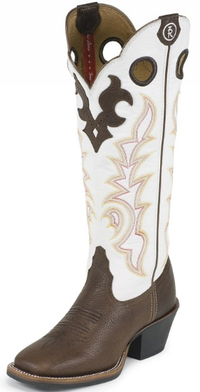 4615cc0f9e5 Tony Lama RR2007L Ladies 3R Collection Buckaroo Boot with Beige Mustang  Leather Foot and a Double Stitched Wide Square Toe