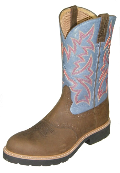 650007fb4a0 Twisted X MSC0002 for $149.99 Men's' Pull On Work Boot with Distressed  Saddle Leather Foot and a Round Steel Toe