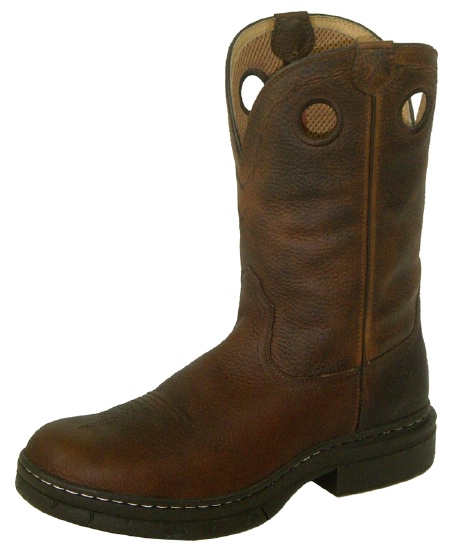 fc2d9981b90 Twisted X MEZ0004 for $129.99 Men's' EZ Rider Casual Boot with Brown Pebble  Leather Foot and a Round EX Rider Toe