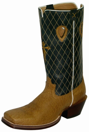 a0df1c1f180 Twisted X MRSL012 for $229.99 Men's' Gold Buckle Western Boot with Saddle  Smooth Ostrich Leather Foot and a Country Wide Square Toe